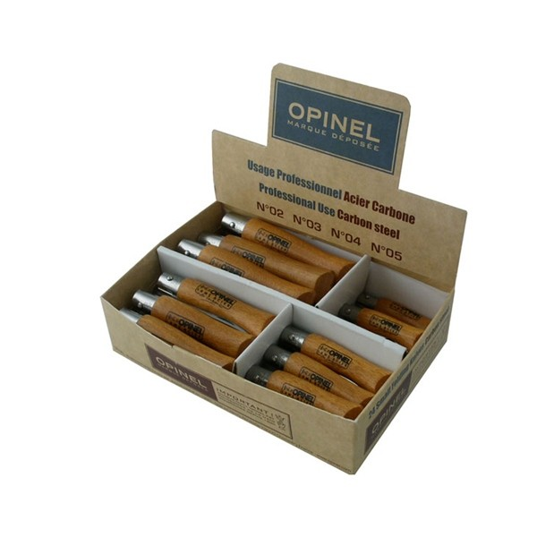 Набор ножей Opinel 24 Carbon steel knives (6 x №2 + 6 x №3 + 6 x №4 + 6 x №5)